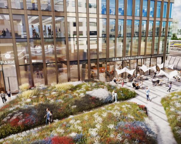 Central Park Utrecht, Een prachtig nieuw ontwerp te huur via Ans de Wijn Bedrijfshuisvesting B.V.